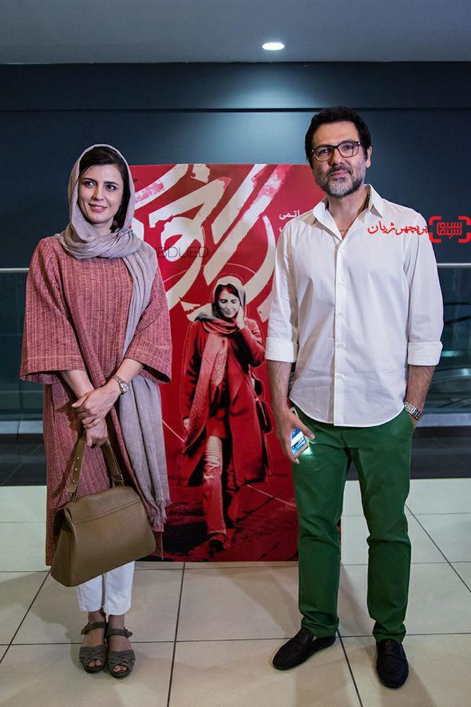 کوروش تهامی و لیلا حاتمی در اکران مردمی فیلم «رگ خواب»