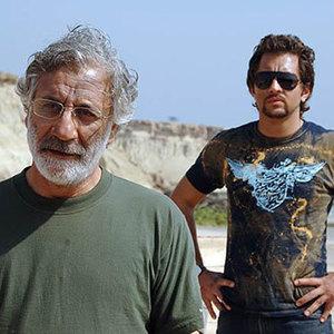 بهرام رادان و مسعود رایگان در فیلم «زادبوم»