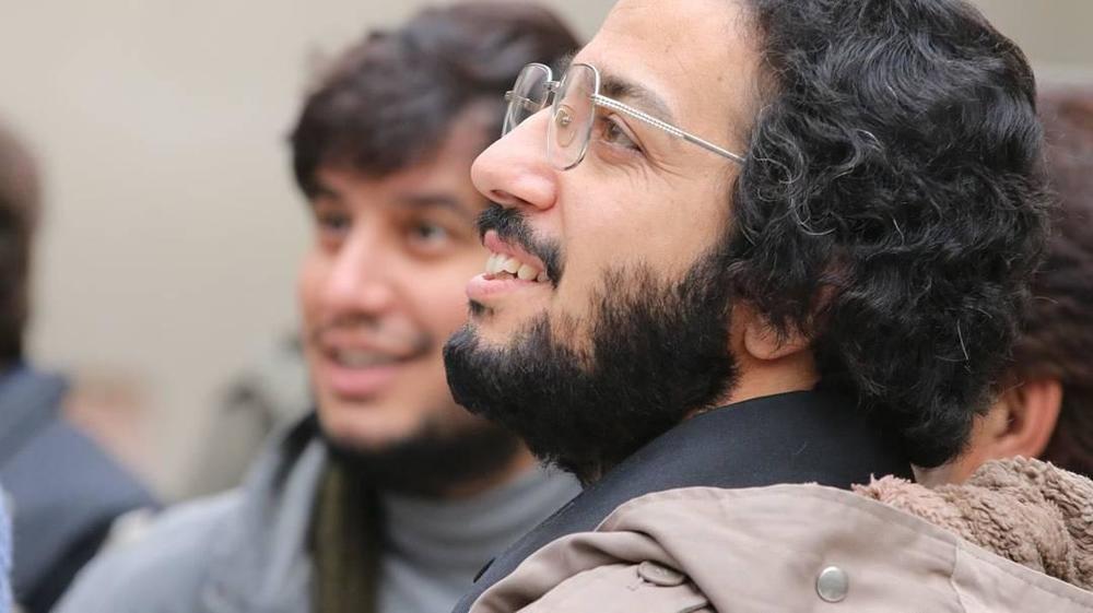 مهدی زمین پرداز و جواد عزتی در پشت صحنه فیلم «ماجرای نیمروز»