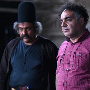 مهران غفوریان و محمد عرب در پشت صحنه فیلم «داش آکل»