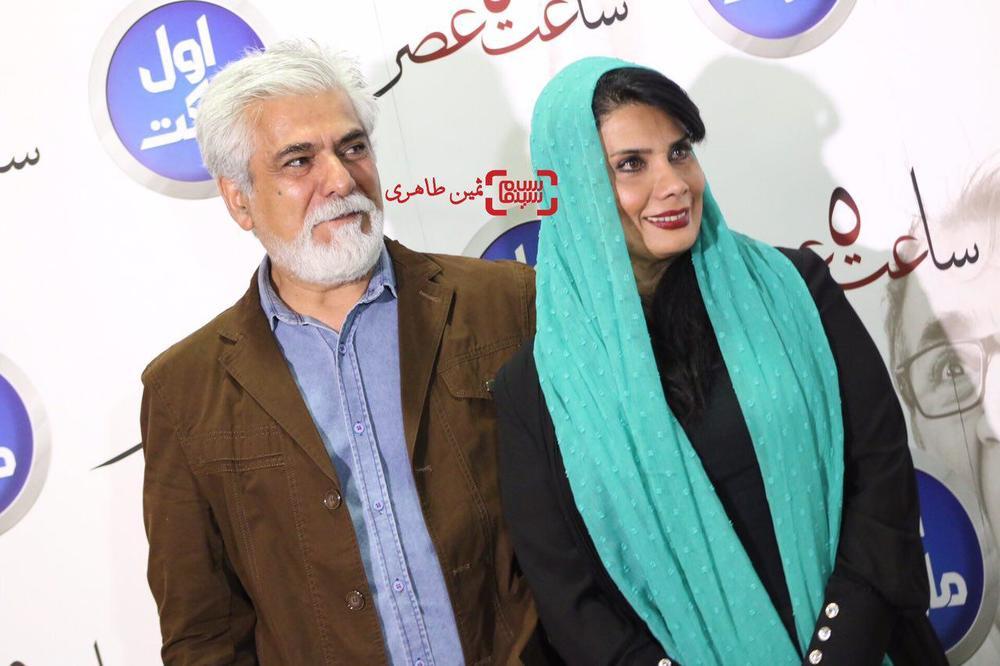 حسین پاکدل و همسرش عاطفه رضوی در اکران خصوصی فیلم «ساعت ٥ عصر»