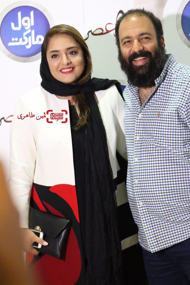 علی اوجی و همسرش نرگس محمدی در اکران خصوصی «ساعت ٥ عصر»