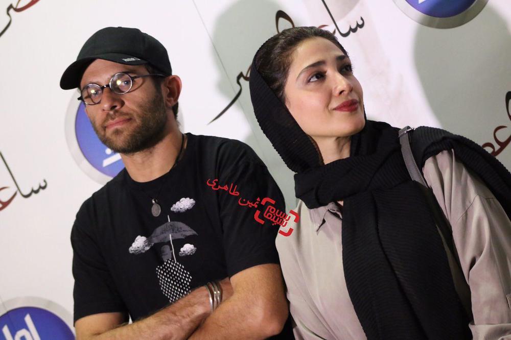 بابک حمیدیان و همسرش مینا ساداتی در اکران خصوصی فیلم «ساعت ٥ عصر»