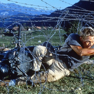 استیو مک کوئین در نمایی از فیلم «فرار بزرگ»(The Great Escape)