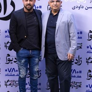 هومن سیدی و ابوالحسن داوودی در اکران خصوصی فیلم «زادبوم»