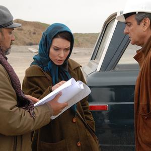 همایون ارشادی و شهرزاد کمالزاده در پشت صحنه فیلم روزگاری عشق و خیانت