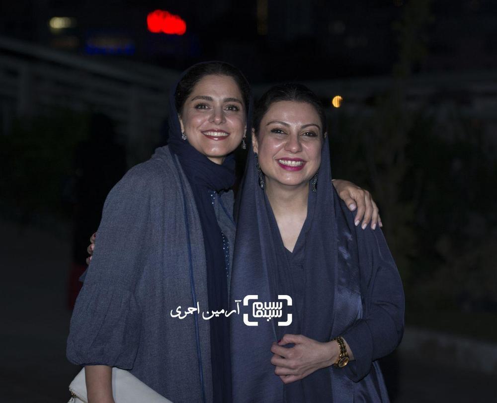 نگار آذربایجانی و غزل شاکری در اکران خصوصی فیلم «فصل نرگس»