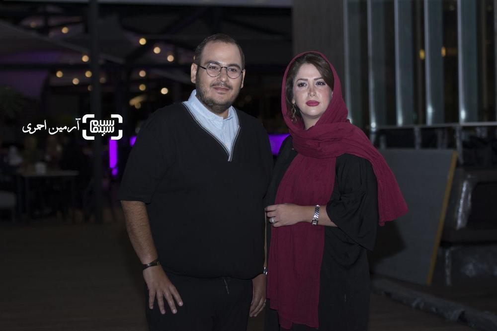 رضا داوودنژاد و همسرش غزل بدیعی در اکران خصوصی فیلم «فصل نرگس»