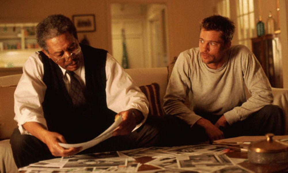 برد پیت و مورگان فریمن در فیلم «هفت»