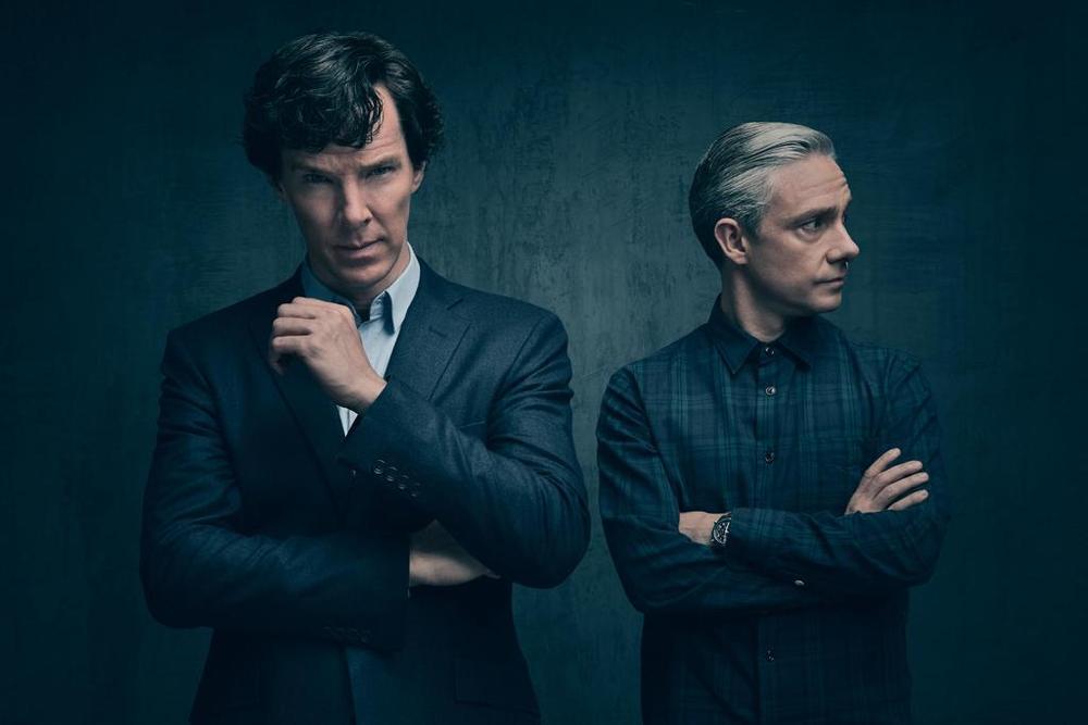 بندیکت کامبربچ و مارتین فریمن در سریال «شرلوک»