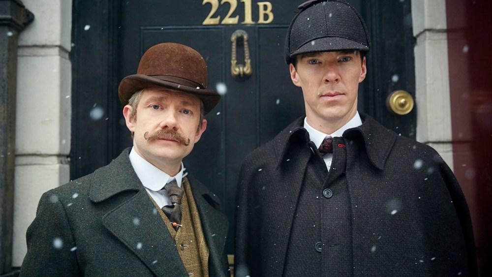 بندیکت کامبربچ و مارتین فریمن در سریال «شرلوک»(Sherlock)