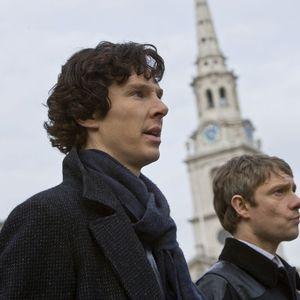 بندیکت کامبربچ و مارتین فریمن در نمایی از سریال «شرلوک»(Sherlock)