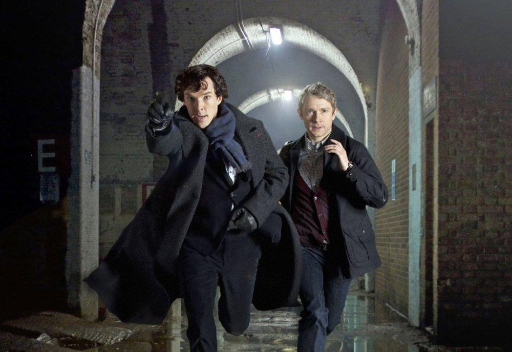 بندیکت کامبربچ و مارتین فریمن در نمایی از سریال «شرلوک»