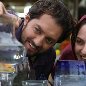 بهرام رادان و مهناز افشار در فیلم سینمایی «پل چوبی»