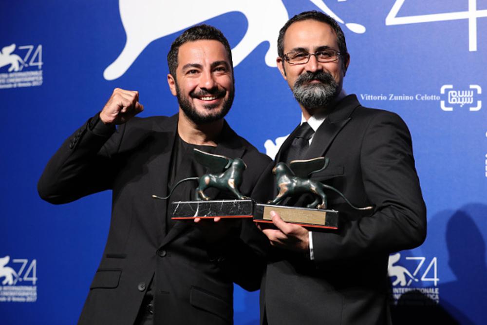 وحید جلیلوند و نوید محمدزاده در اختتامیه جشنواره فیلم ونیز2017