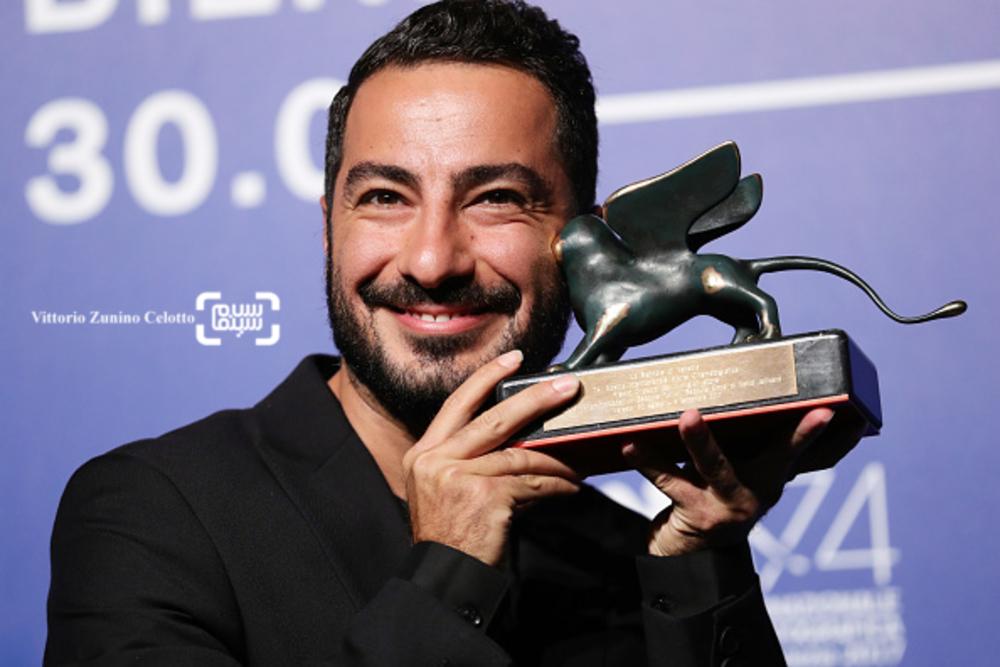 نوید محمدزاده در اختتامیه جشنواره فیلم ونیز