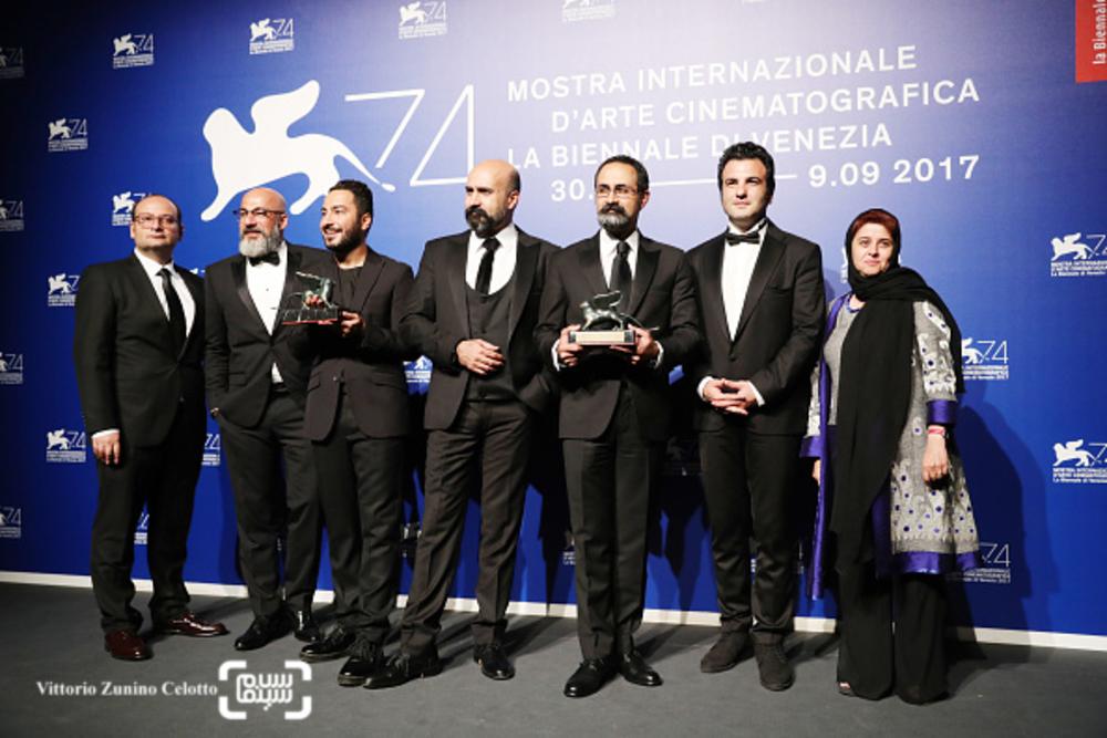عوامل فیلم «بدون تاریخ، بدون امضا» در اختتامیه جشنواره ونیز2017
