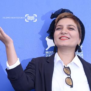نفیسه زارع در فتوکال فیلم «ناپدید شدن» در جشنواره فیلم ونیز2017