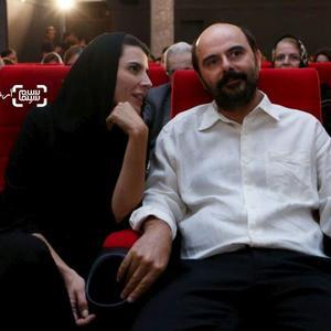 لیلا حاتمی و همسرش علی مصفا در اکران خصوصی فیلم «لیلا»