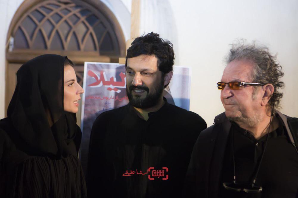 لیلا حاتمی، داریوش مهرجویی و حامد بهداد در اکران خصوصی فیلم «لیلا»