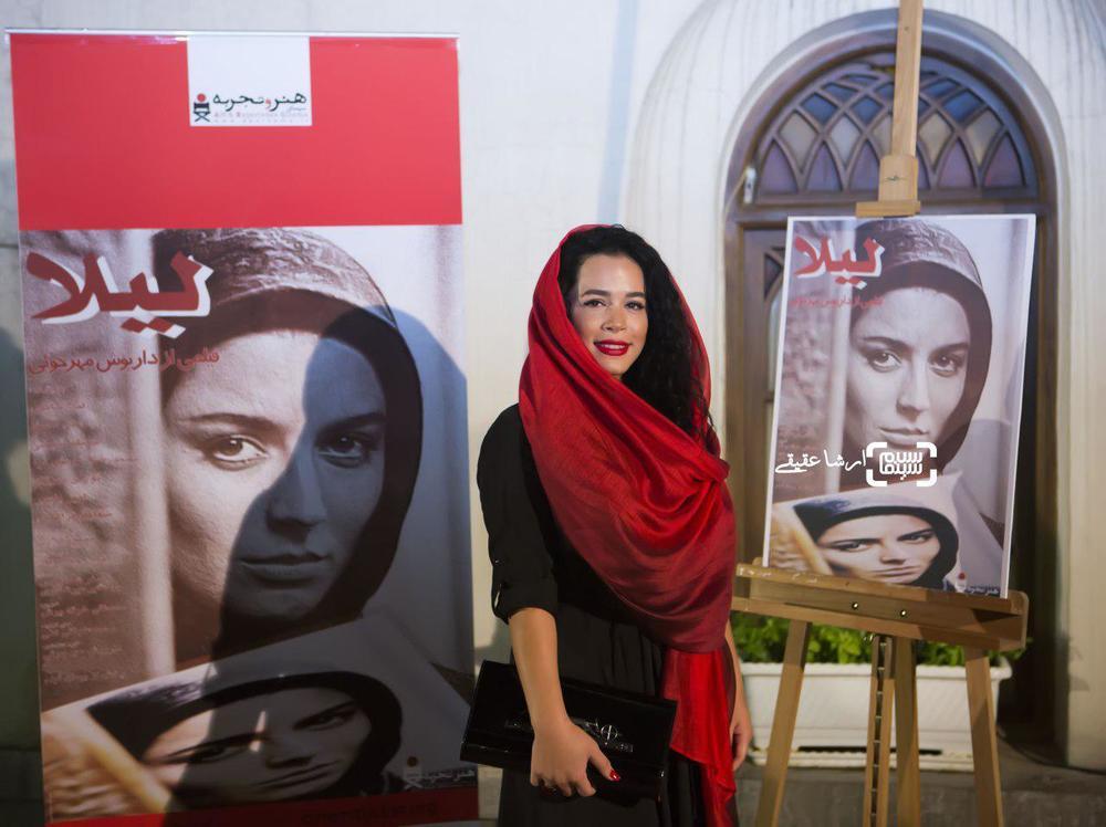 ملیکا شریفی نیا در اکران خصوصی فیلم «لیلا»