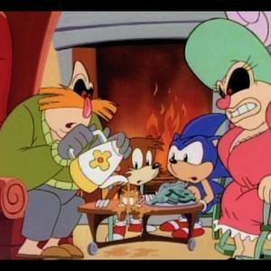 نمایی از انیمیشن «ماجراهای سونیک»(Adventures of Sonic the Hedgehog)