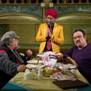محمدرضا شریفی نیا، مهران غفوریان و محمدرضا هدایتی در فیلم «خالتور»