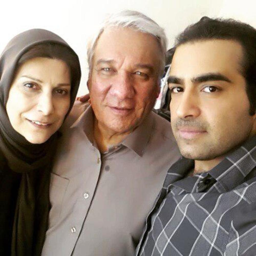 ادیب قریب، جمشید جهانزاده کشکولی و همسرش فرزانه نشاط خواه در پشت صحنه فیلم «ملی و راه های نرفته اش»