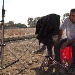 ستار چمنی گل در پشت صحنه فیلم سینمایی «گل نساء»