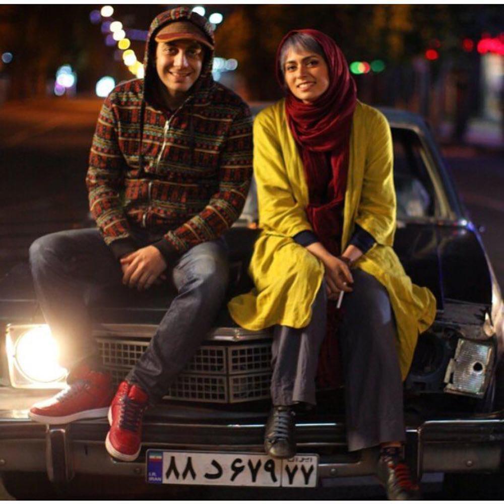 علی احمدزاده و پگاه آهنگرانی در پشت صحنه فیلم «مادر قلب اتمی»