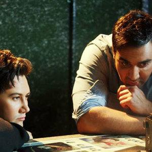 پوریا پورسرخ و شاهرخ استخری در فیلم دوربین