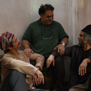 حسین یاری، محمد عرب و علی صادقی در پشت صحنه فیلم «داش آکل»