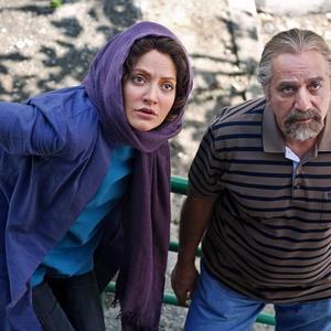 پرویز پرستویی و مهناز افشار در فیلم «لس آنجلس-تهران»