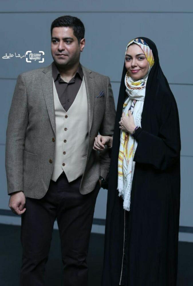 آزاده نامداری و همسرش در اکران خصوصی فیلم «مالاریا»