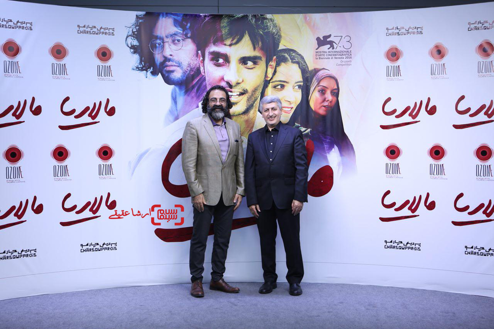 جواد یحیوی و مسعود ردایی در اکران خصوصی فیلم «مالاریا»