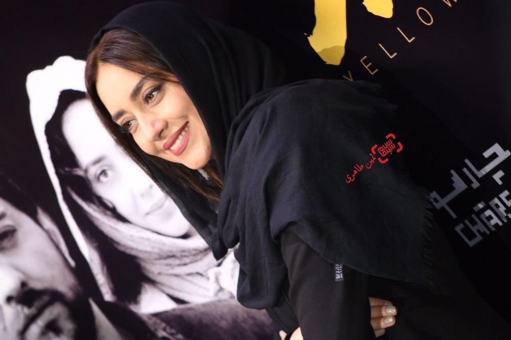 بهاره کیان افشار در اکران مردمی فیلم «زرد» در پردیس سینمایی چارسو