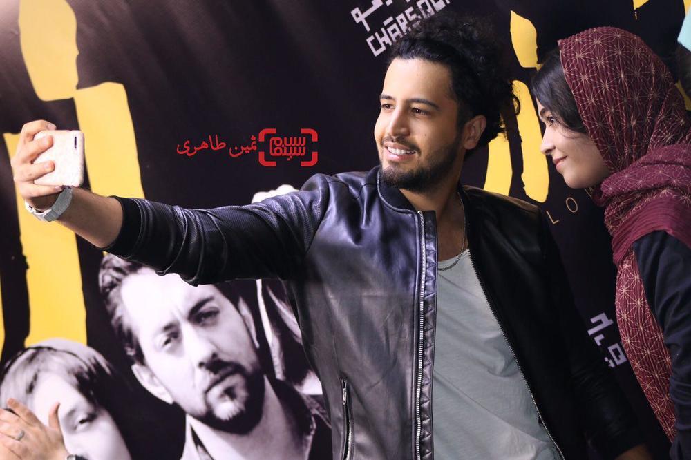مهرداد صدیقیان در اکران مردمی «زرد» در پردیس سینمایی چارسو