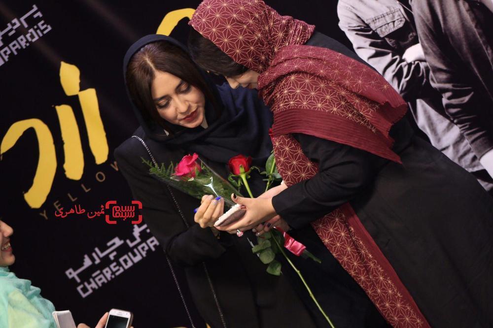 بهاره کیان افشار در اکران مردمی فیلم سینمایی «زرد» در پردیس سینمایی چارسو