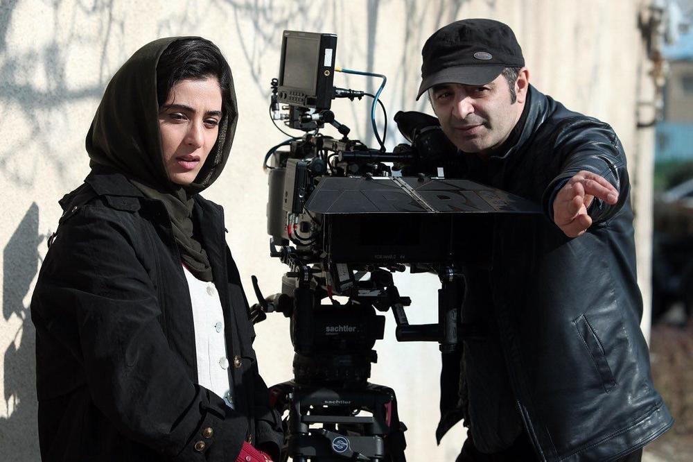آناهیتا افشار و رحیم طوفان در پشت صحنه فیلم «یک کیلو و بیست و یک گرم»