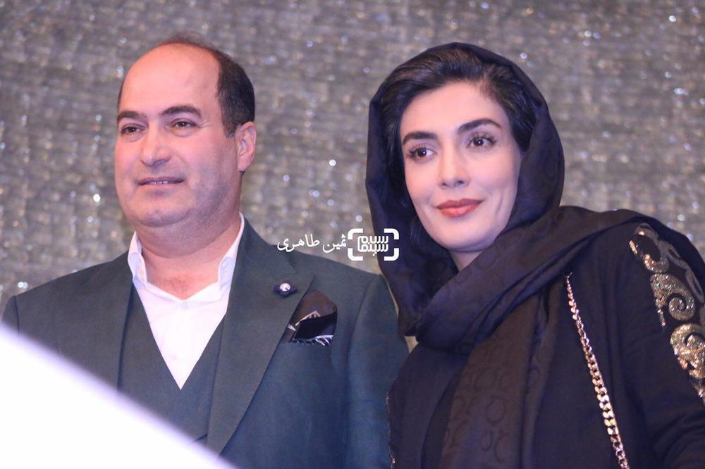 لیلا زارع و محمدحسین عامری پویا در اکران خصوصی فیلم «غیر مجاز»