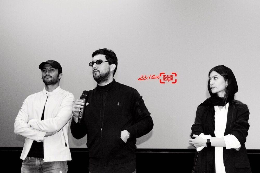 حامد بهداد، امیر جدیدی و پردیس احمدیه در اولین اکران مردمی فیلم «خانه دختر» در پردیس سینمایی کوروش