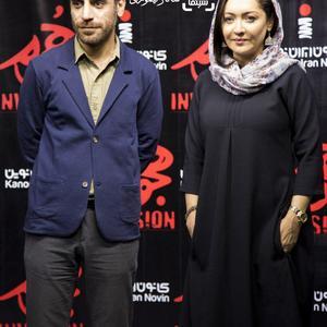 نیکی کریمی و شهرام مکری در اکران خصوصی فیلم «هجوم»