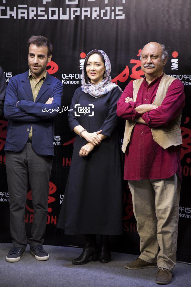 نیکی کریمی، شهرام مکری و بابک کریمی در اکران خصوصی فیلم «هجوم»