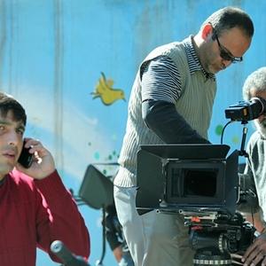 حمید گودرزی و بهروز افخمی در پشت صحنه فیلم روباه