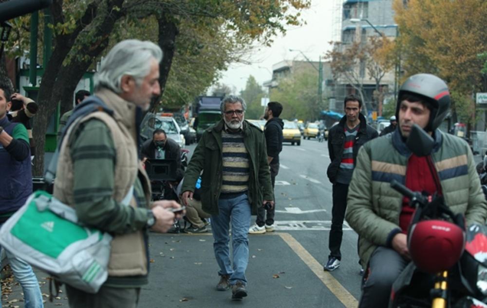حمید گودرزی و بهروز افخمی و جلال فاطمی در پشت صحنه فیلم روباه