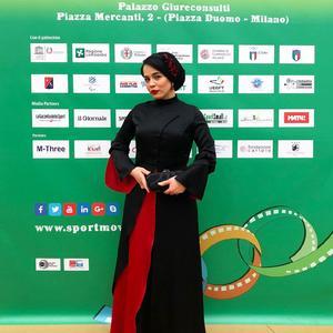 ملیکا شریفی نیا در افتتاحیه جشنواره فیلم ورزشی میلان