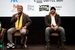 محسن تنابنده و علیرضا داودنژاد در نشست پرسش و پاسخ «فراری» در سومین جشنواره فیلم سینه ایران