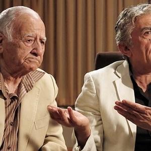 رضا کیانیان و علی اصغر شهبازی در فیلم پنج تا پنج
