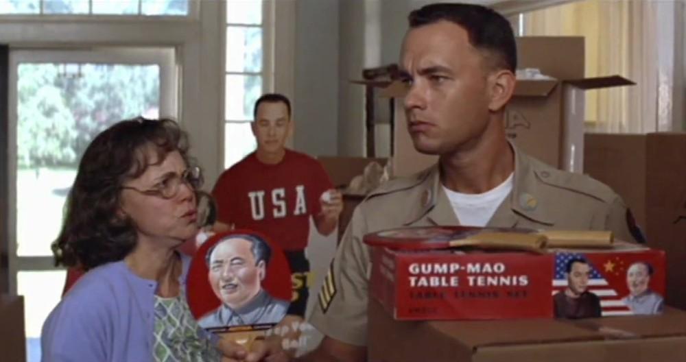 """تام هنکس و سالی فیلد  در فیلم """"فارست گامپ"""""""