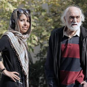 مریم بحرالعلومی و حسین ملکی در پشت صحنه فیلم «پاسیو»